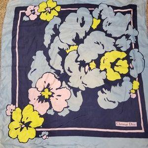Dior Floral Hibiscus Silk Scarf